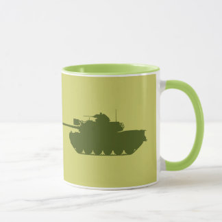 Caneca da silhueta de M48A3 Patton