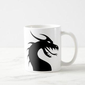 Caneca da silhueta do dragão