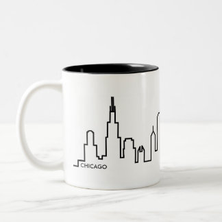 Caneca da skyline de Chicago