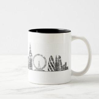 Caneca da skyline de Londres