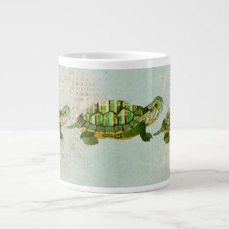 Caneca da tartaruga do jade canecas de café muito grande