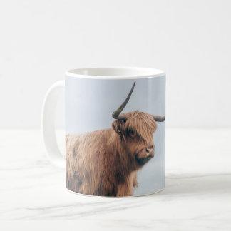 """Caneca da vaca das montanhas de """"Angus"""""""