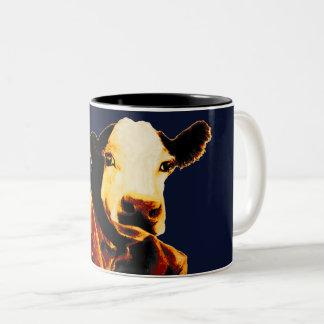 Caneca da vaca do negócio