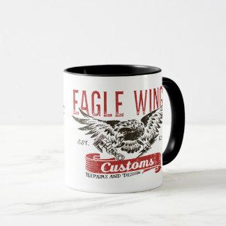 """Caneca das asas de Eagle do """"fechamento & da chave"""