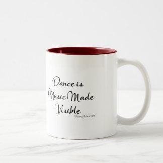 """Caneca das citações da dança - a """"dança é a música"""