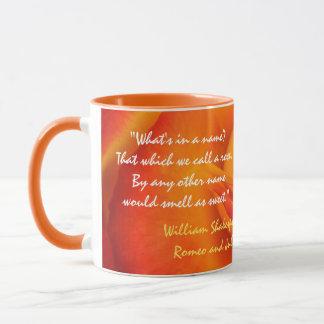 Caneca das citações do rosa da laranja