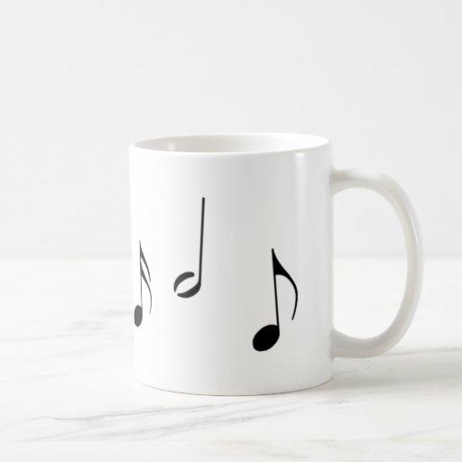 Caneca das notas musicais