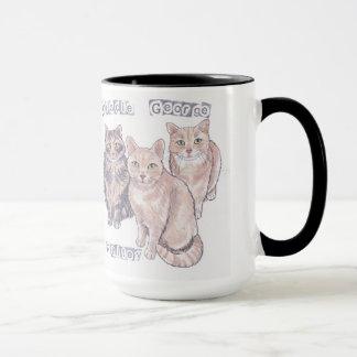 Caneca de 3 gatinhos