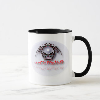 - caneca de café 001 de x - mancha solar tribal do