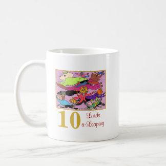 Caneca De Café 10 senhores animais bonitos & tipografia de um