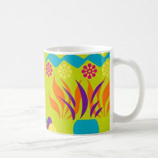 Caneca de café 11oz feliz floral abstrata
