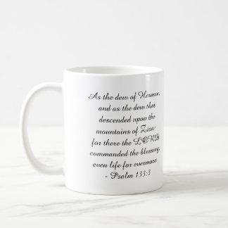 Caneca De Café 133:3 do salmo