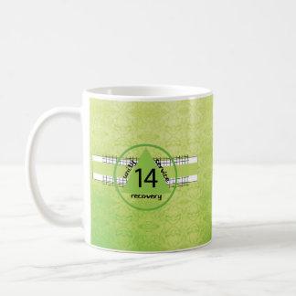 Caneca De Café 14 recuperação Anniv. da etapa da felicidade 12 da