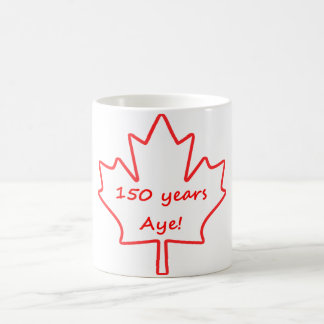 Caneca De Café 150 anos de Canadá