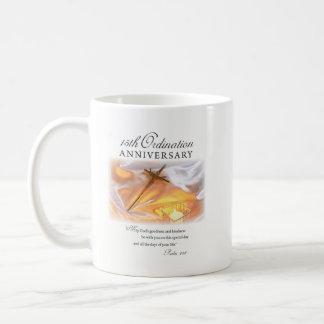 Caneca De Café 15o Aniversário da classificação, vela transversal