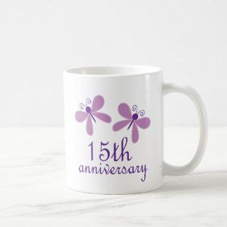 Caneca De Café 15o Aniversário de casamento
