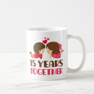 Caneca De Café 15o Presente do aniversário para ela