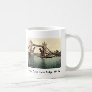 Caneca De Café 1890's abertos da ponte da torre de Londres