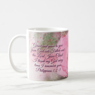 Caneca De Café 1:2 dos Philippians - 3 enfeitam e a paz a você