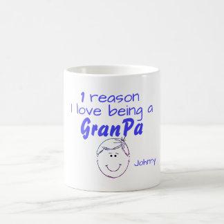 Caneca De Café 1 razão que eu amo ser um GranPa - menino