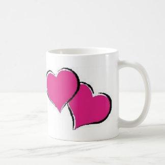 Caneca De Café 2 corações