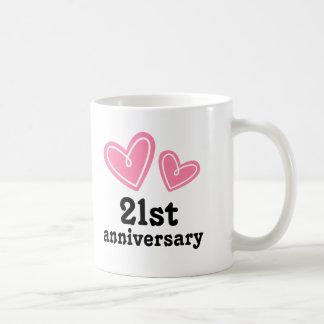 Caneca De Café 2ø Corações do presente do aniversário