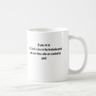 Caneca De Café 34:18 do salmo o senhor é próximo ao brokenheart…