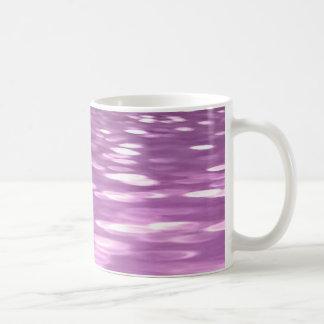 Caneca De Café #3 abstrato: Shimmer do Lilac