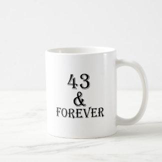 Caneca De Café 43 e para sempre design do aniversário