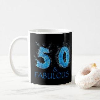 Caneca De Café 50 e aniversário da natação fabulosa do nadador