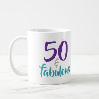 Caneca De Café 50 e fabuloso - 50th ideia do presente de