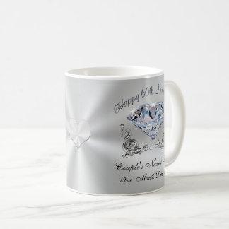 Caneca De Café 60th Presentes do aniversário de casamento para