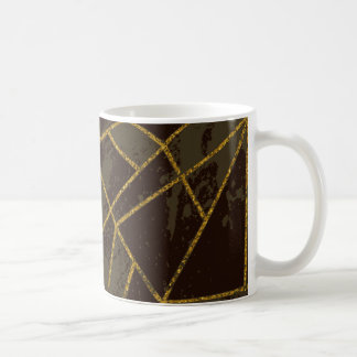 Caneca De Café #941 abstrato Brown