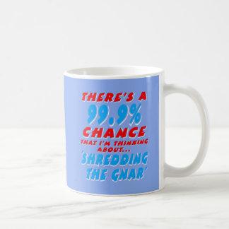 Caneca De Café 99,9% SHREDDING O GNAR (branco)