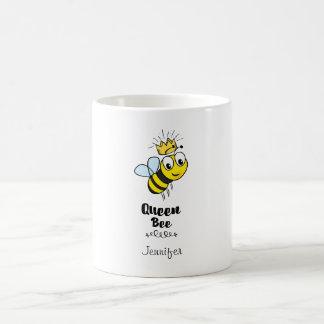 Caneca De Café A abelha de rainha bonito Bumble a abelha com a