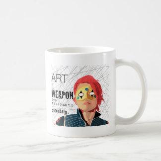 Caneca De Café A arte é a arma