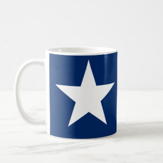 Caneca De Café A bandeira solitária de Texas da bandeira da