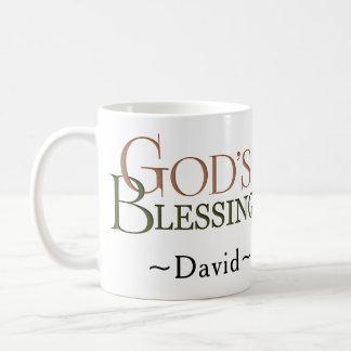 Caneca De Café A bênção do deus: Victorian personalizado