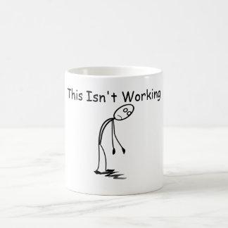 Caneca De Café A cara Droopy cansado isto não está trabalhando a