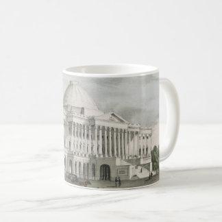 Caneca De Café A casa branca, Capitólio na litografia de