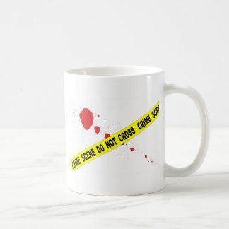 Caneca De Café A cena do crime não se cruza