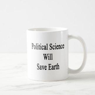 Caneca De Café A ciência política salvar a terra