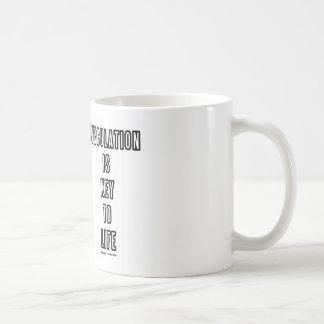Caneca De Café A circulação é chave à vida (o anél do Willis)