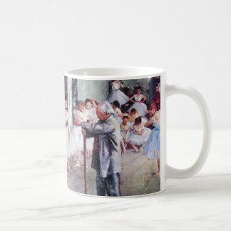Caneca De Café A classe de dança por Edgar Degas, arte do balé do