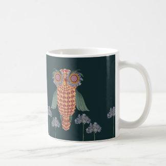 Caneca De Café A coruja da sabedoria e das flores