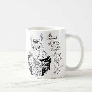 Caneca De Café A coruja - seja surpreendida