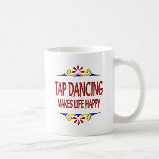 Caneca De Café A dança de torneira faz a vida feliz