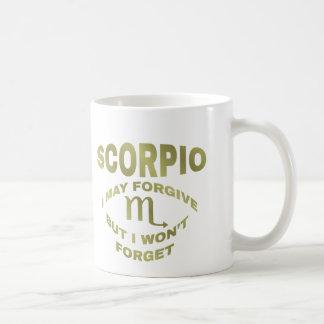 Caneca De Café A Escorpião perdoa mas não esquece o copo de