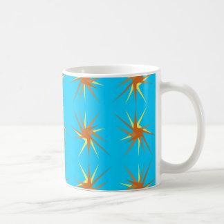 Caneca De Café A estrela estouram o teste padrão no creme e bege,