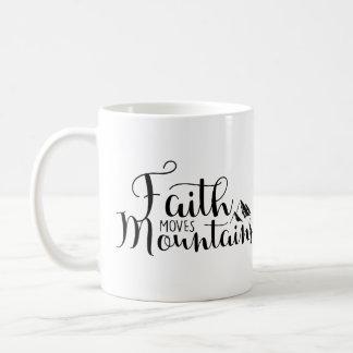 Caneca De Café A fé move montanhas